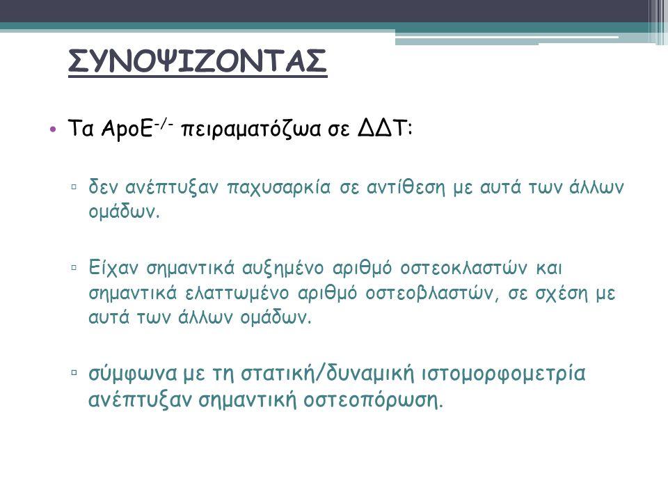 ΣΥΝΟΨΙΖΟΝΤΑΣ Τα ApoE-/- πειραματόζωα σε ΔΔΤ: