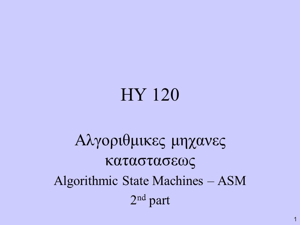 ΗΥ 120 Αλγοριθμικες μηχανες καταστασεως