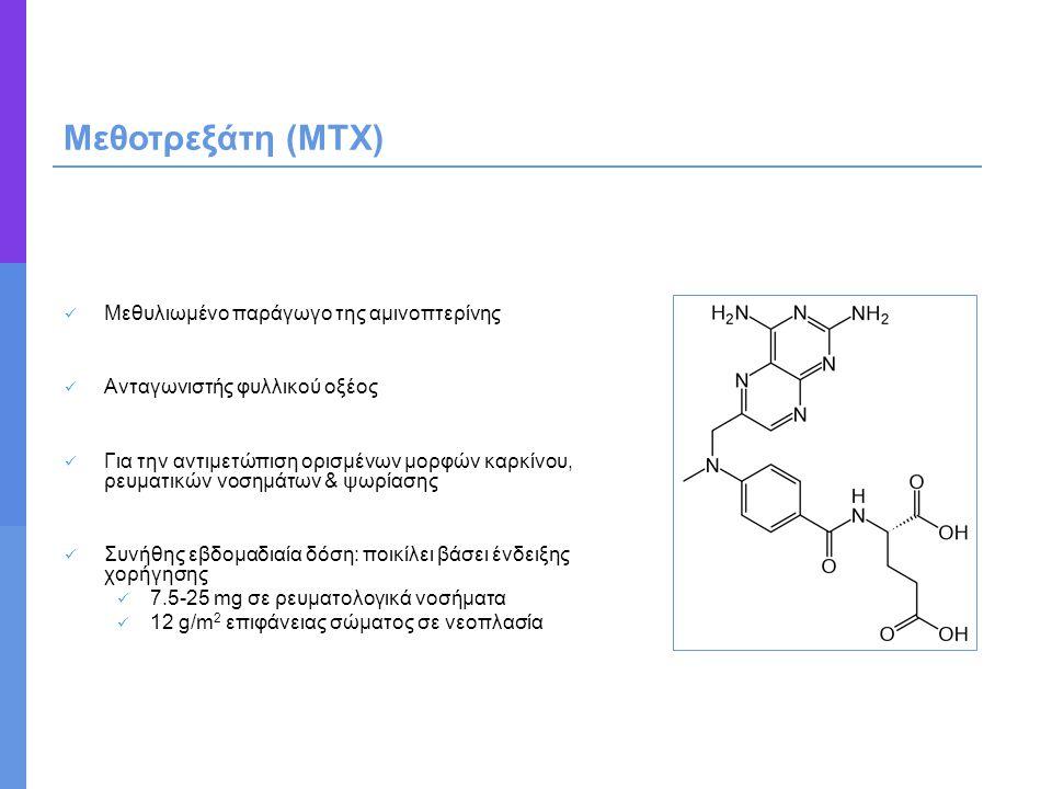 Μεθοτρεξάτη (ΜΤΧ) Μεθυλιωμένο παράγωγο της αμινοπτερίνης