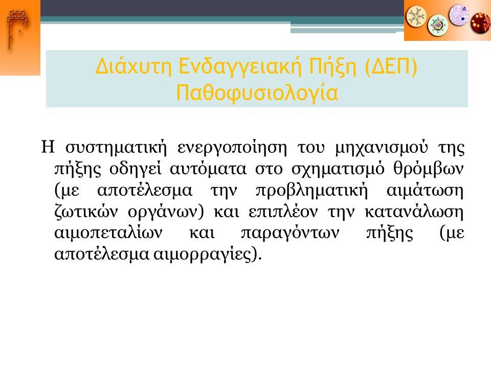 Διάχυτη Ενδαγγειακή Πήξη (ΔΕΠ) Παθοφυσιολογία