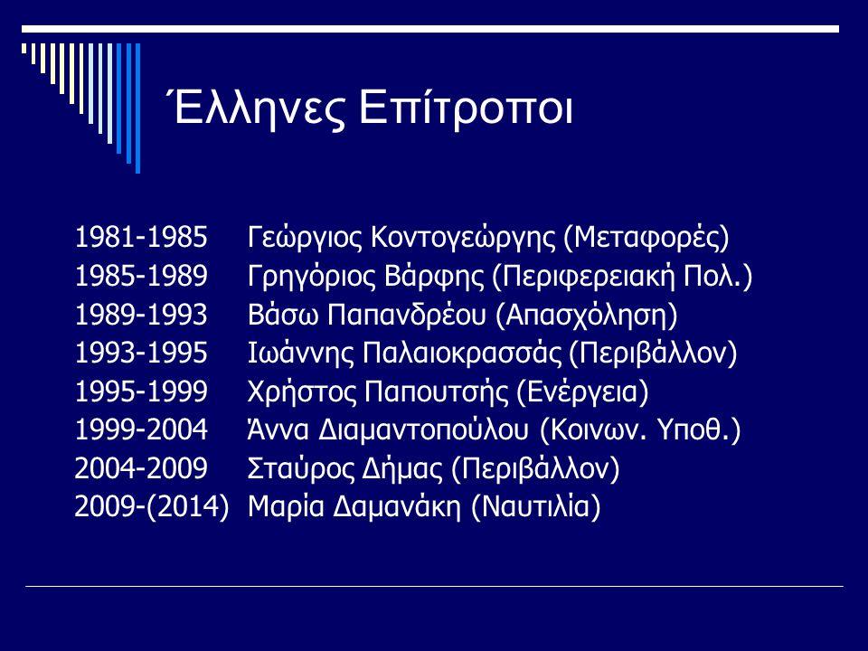 Έλληνες Επίτροποι 1981-1985 Γεώργιος Κοντογεώργης (Μεταφορές)