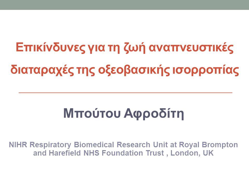 Eπικίνδυνες για τη ζωή αναπνευστικές διαταραχές της οξεοβασικής ισορροπίας