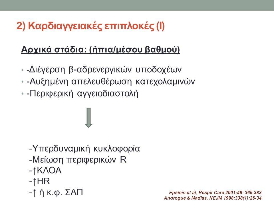 2) Καρδιαγγειακές επιπλοκές (Ι)