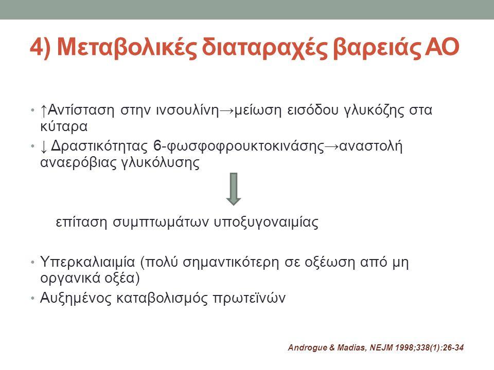 4) Μεταβολικές διαταραχές βαρειάς ΑΟ