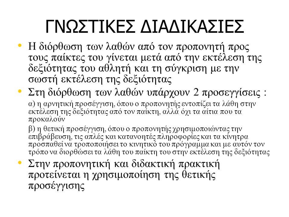 ΓΝΩΣΤΙΚΕΣ ΔΙΑΔΙΚΑΣΙΕΣ
