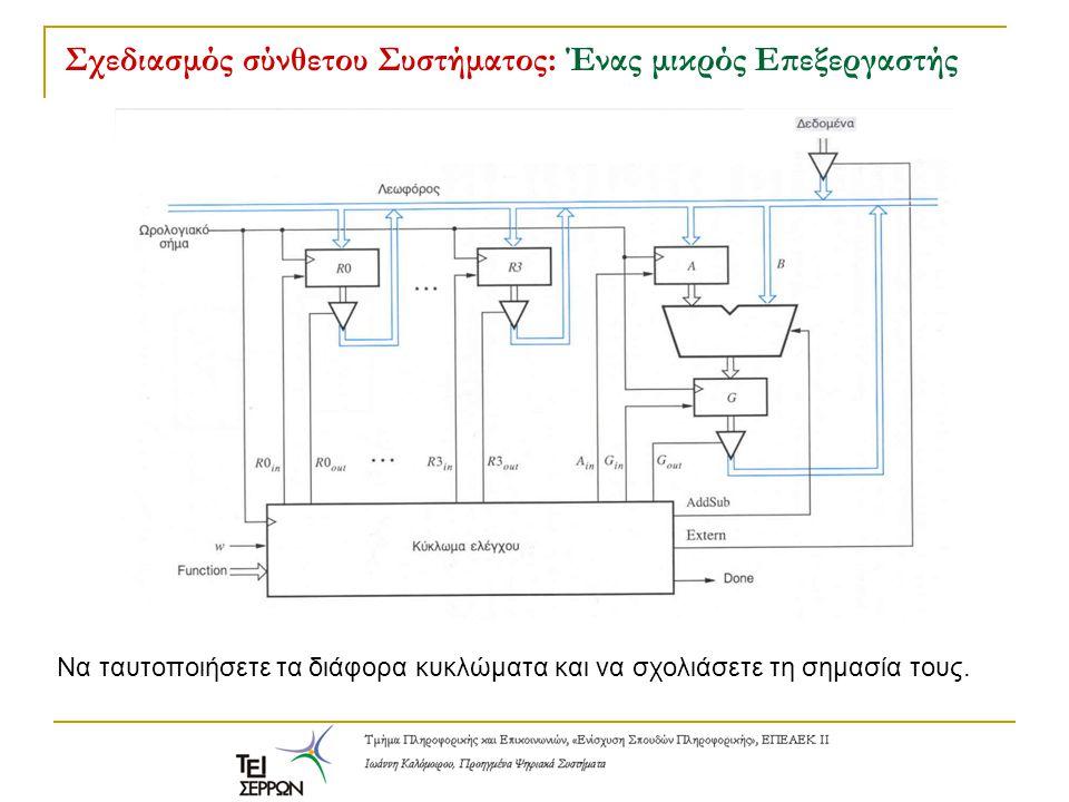 Σχεδιασμός σύνθετου Συστήματος: Ένας μικρός Επεξεργαστής