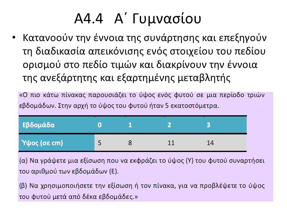 Α4.4 Α΄ Γυμνασίου