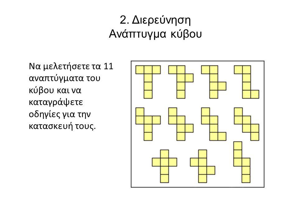 2. Διερεύνηση Ανάπτυγμα κύβου