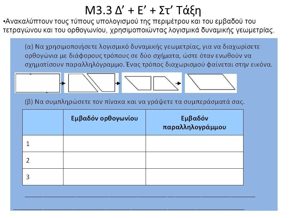 Μ3.3 Δ' + Ε' + Στ' Τάξη