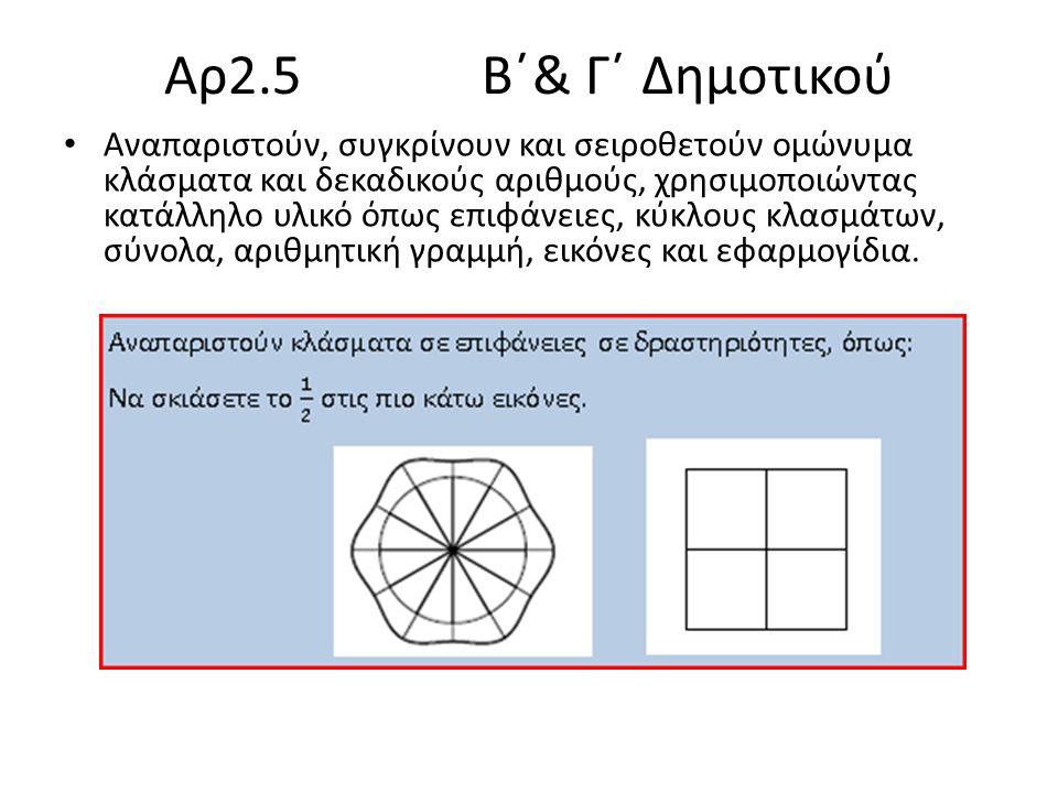 Aρ2.5 Β΄& Γ΄ Δημοτικού