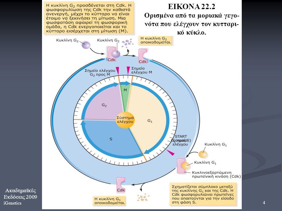 Ορισμένα από τα μοριακά γεγο- νότα που ελέγχουν τον κυτταρι-