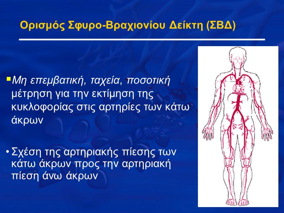 Ορισμός Σφυρο-Βραχιονίου Δείκτη (ΣΒΔ)