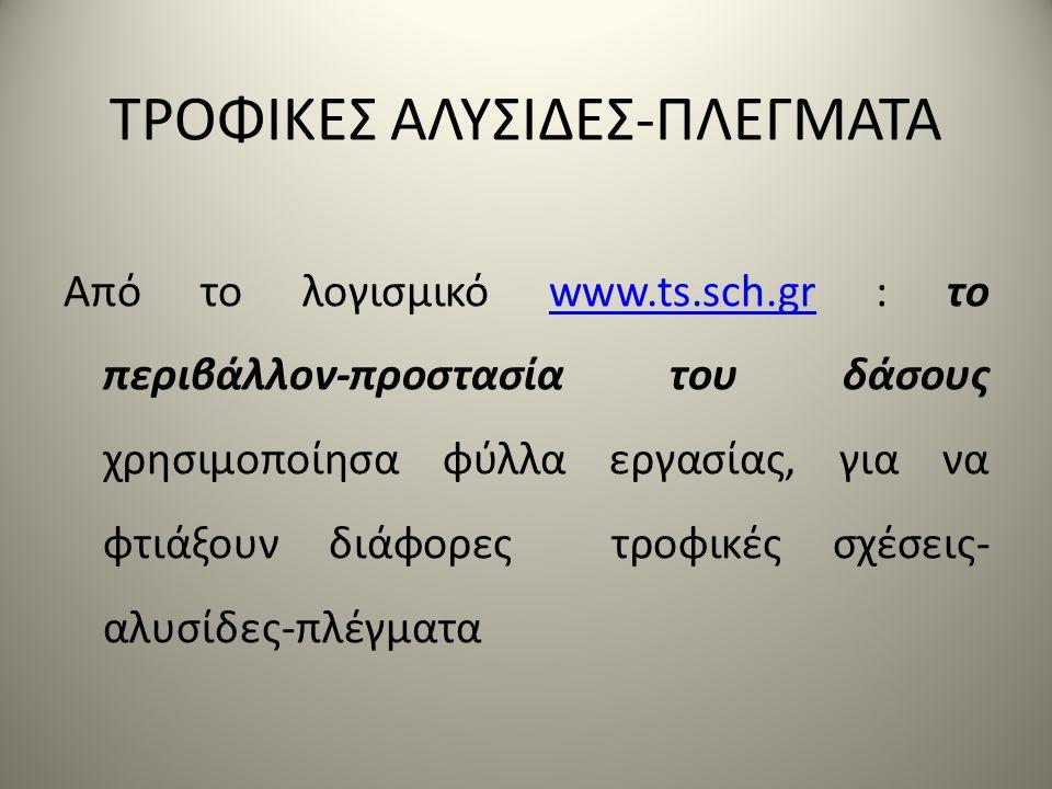 ΤΡΟΦΙΚΕΣ ΑΛΥΣΙΔΕΣ-ΠΛΕΓΜΑΤΑ