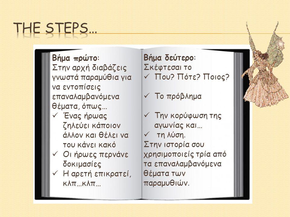 The steps… Βήμα πρώτο: Βήμα δεύτερο: Σκέφτεσαι το