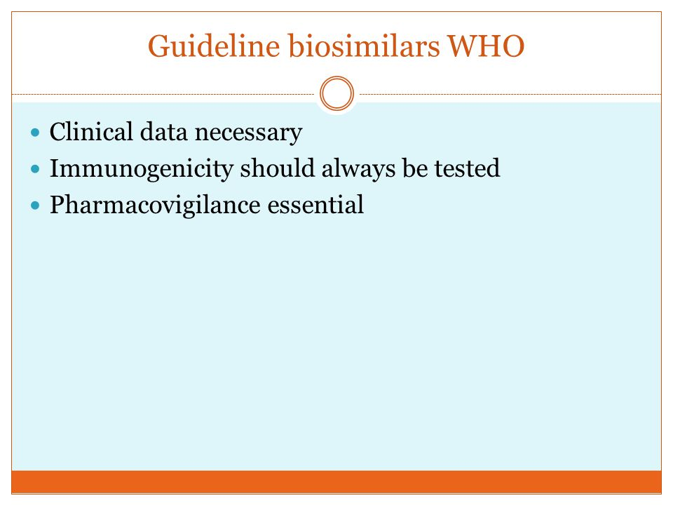 Guideline biosimilars WHO
