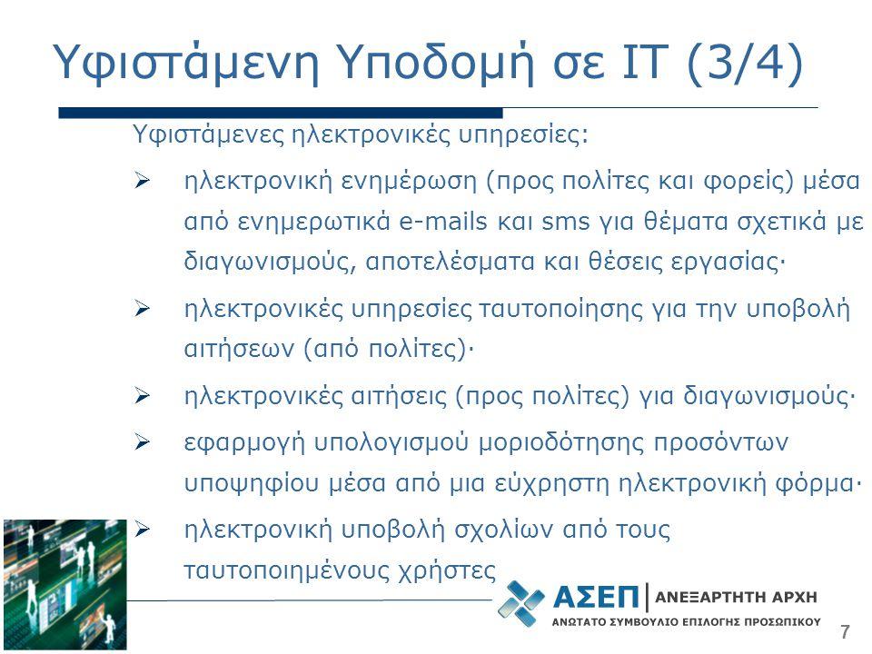 Υφιστάμενη Υποδομή σε IT (3/4)
