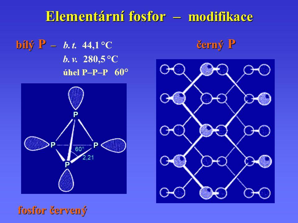Elementární fosfor – modifikace