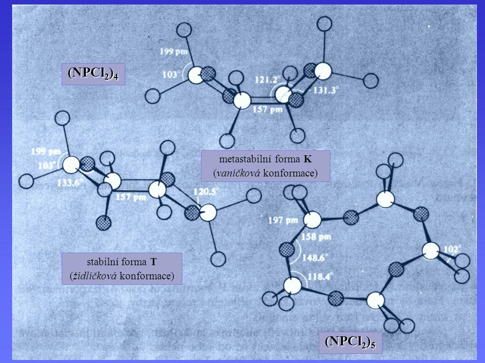 (NPCl2)4 (NPCl2)5 metastabilní forma K (vaničková konformace)