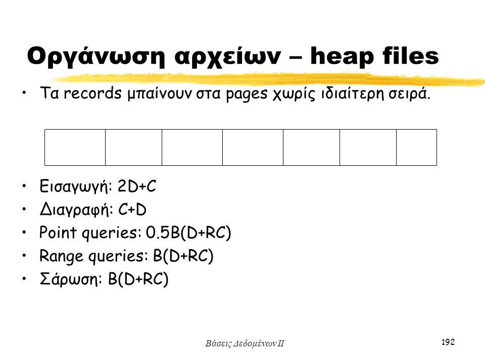 Οργάνωση αρχείων – heap files