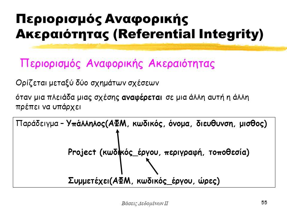 Περιορισμός Αναφορικής Ακεραιότητας (Referential Integrity)