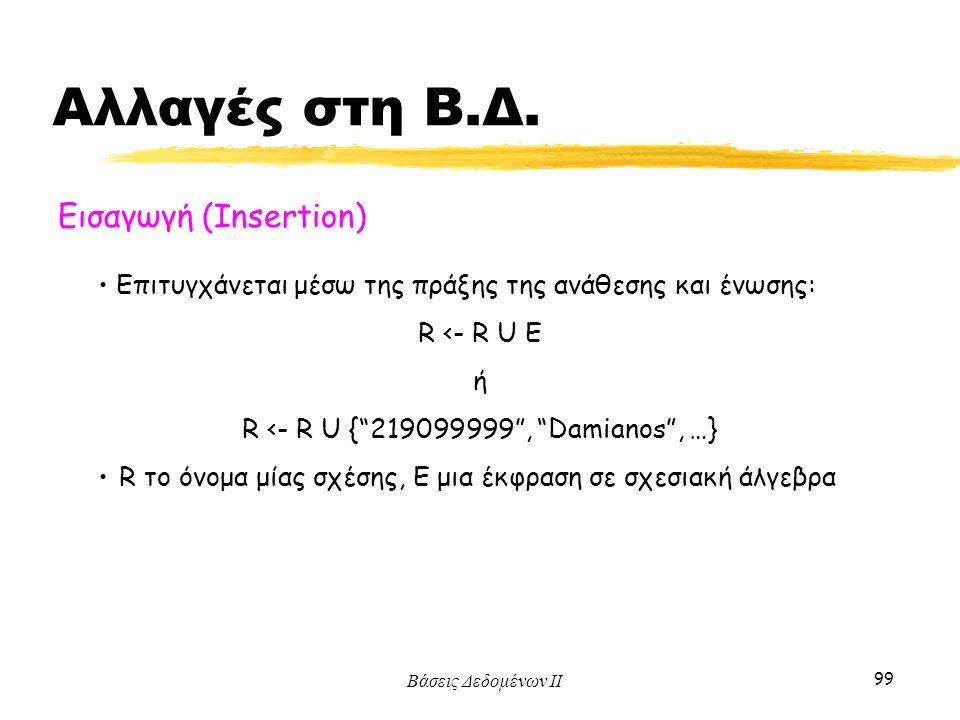 R <- R U { 219099999 , Damianos , …}