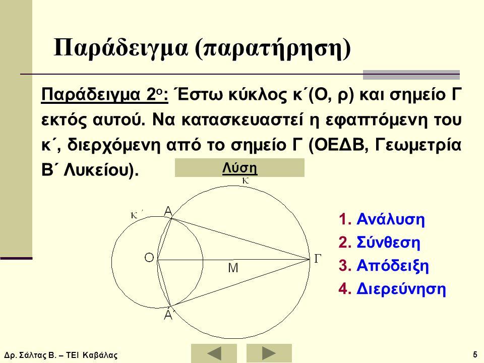 Παράδειγμα (παρατήρηση)