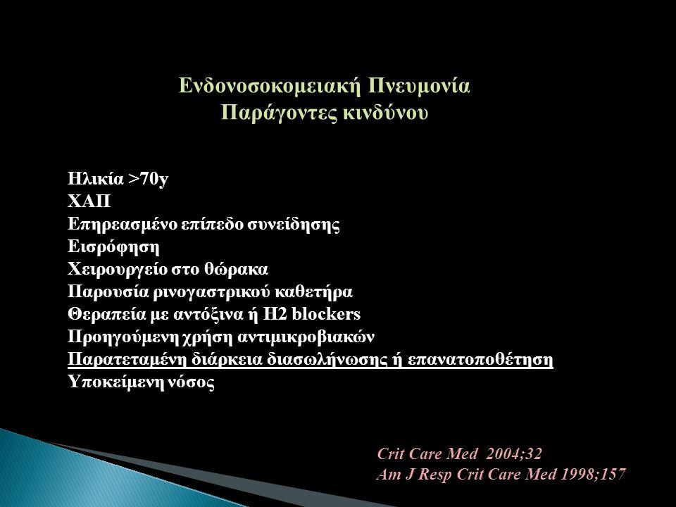 Ενδονοσοκομειακή Πνευμονία