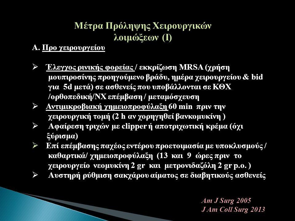 Μέτρα Πρόληψης Χειρουργικών λοιμώξεων (Ι)