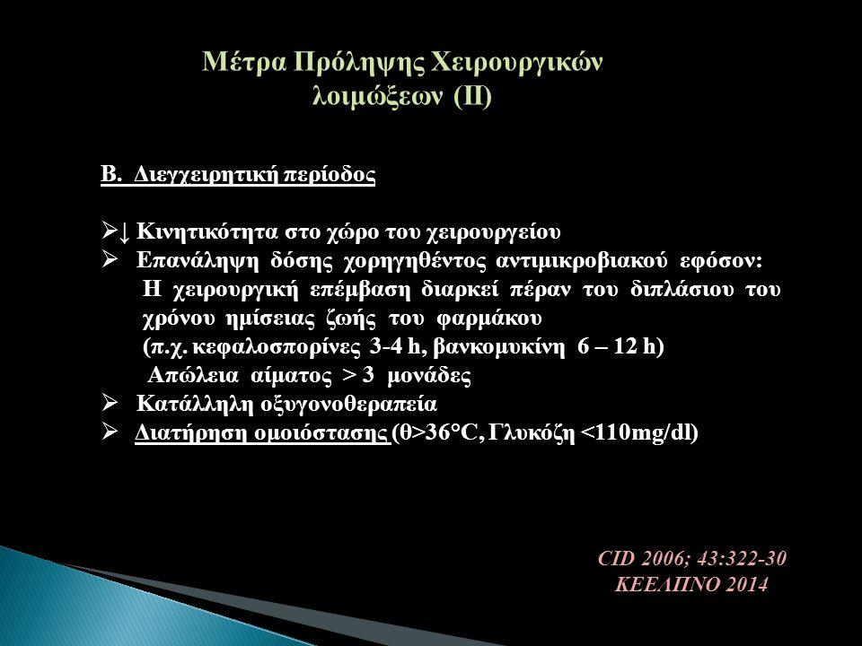 Μέτρα Πρόληψης Χειρουργικών λοιμώξεων (ΙΙ)