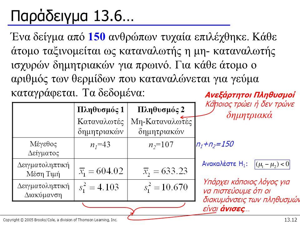 Παράδειγμα 13.6…