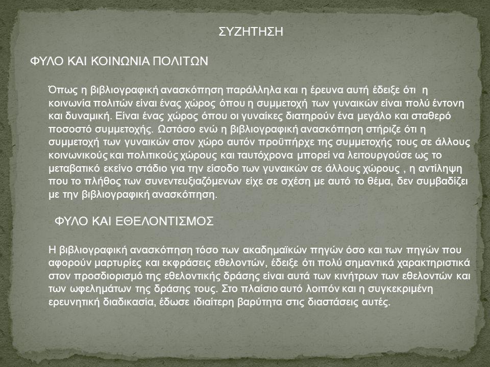 ΦΥΛΟ ΚΑΙ ΚΟΙΝΩΝΙΑ ΠΟΛΙΤΩΝ