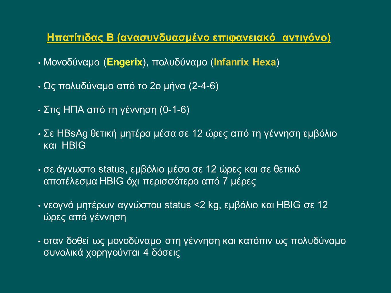 Ηπατίτιδας Β (ανασυνδυασμένο επιφανειακό αντιγόνο)