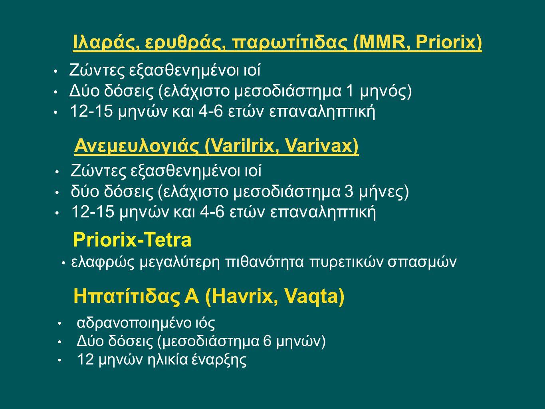 Ιλαράς, ερυθράς, παρωτίτιδας (MMR, Priorix)