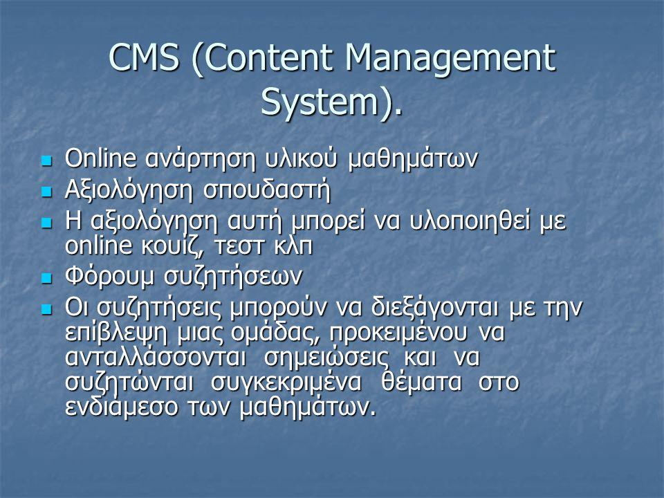 CMS (Content Management System).