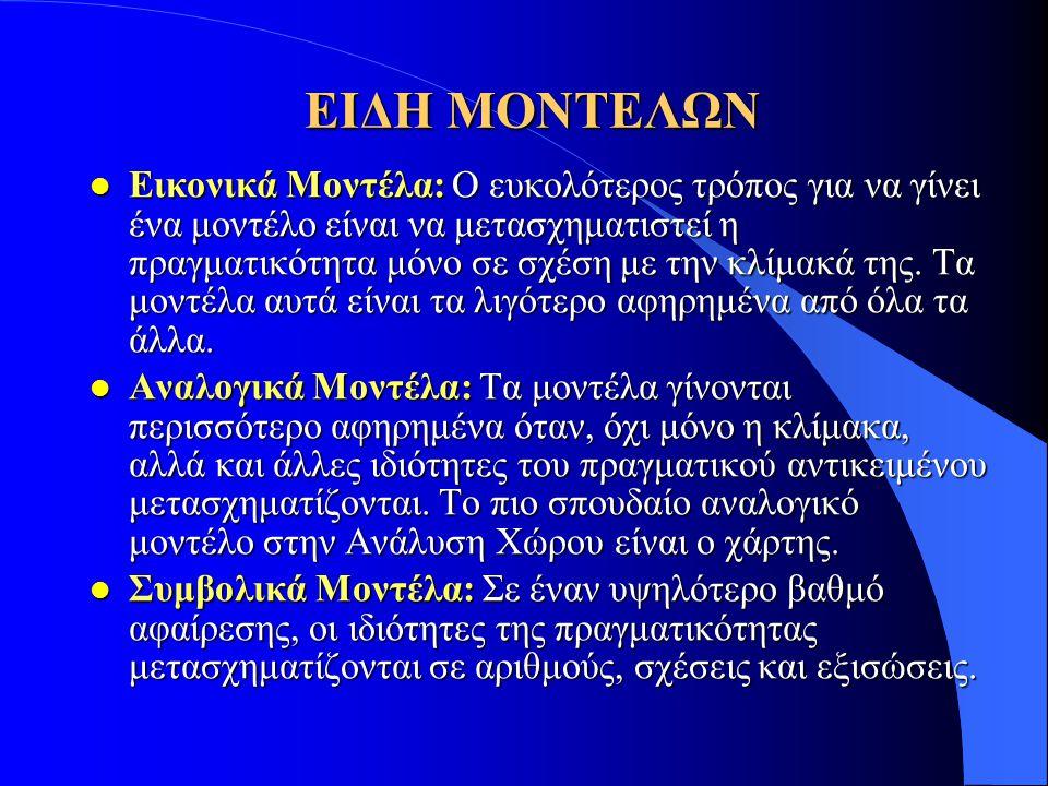 ΕΙΔΗ ΜΟΝΤΕΛΩΝ
