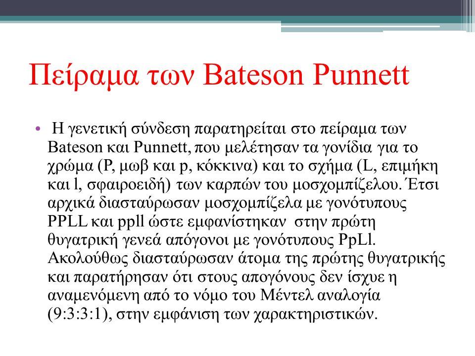 Πείραμα των Bateson Punnett