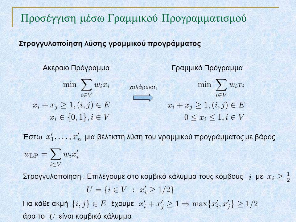 Προσέγγιση μέσω Γραμμικού Προγραμματισμού