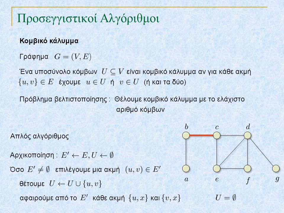 Προσεγγιστικοί Αλγόριθμοι