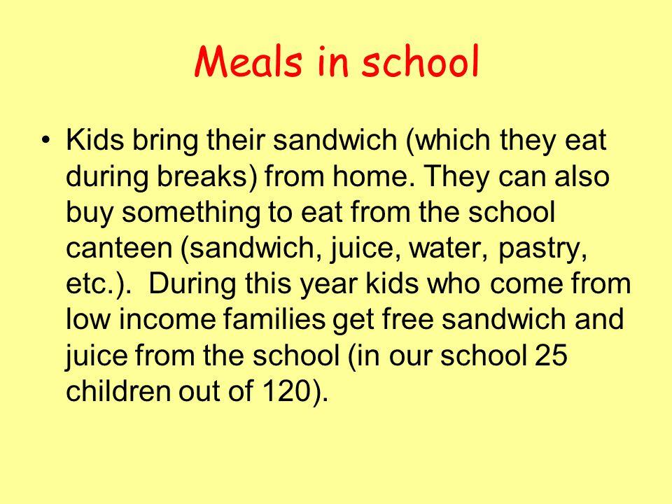 Meals in school