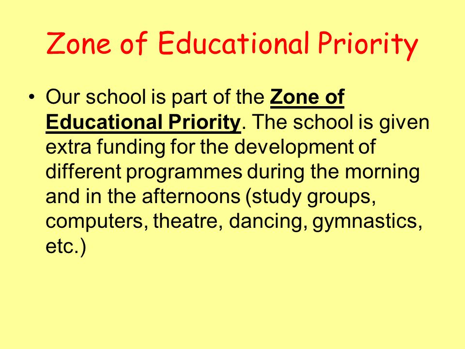 Zone of Educational Priority