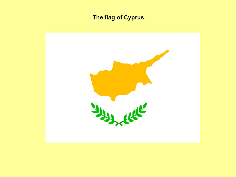 The flag of Cyprus