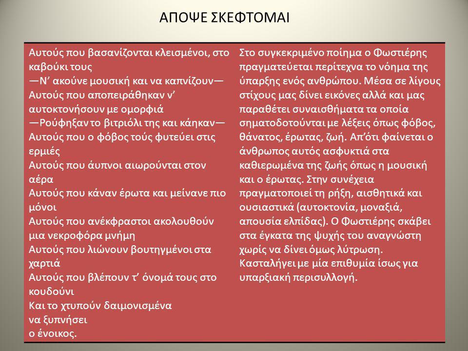 ΑΠΟΨΕ ΣΚΕΦΤΟΜΑΙ