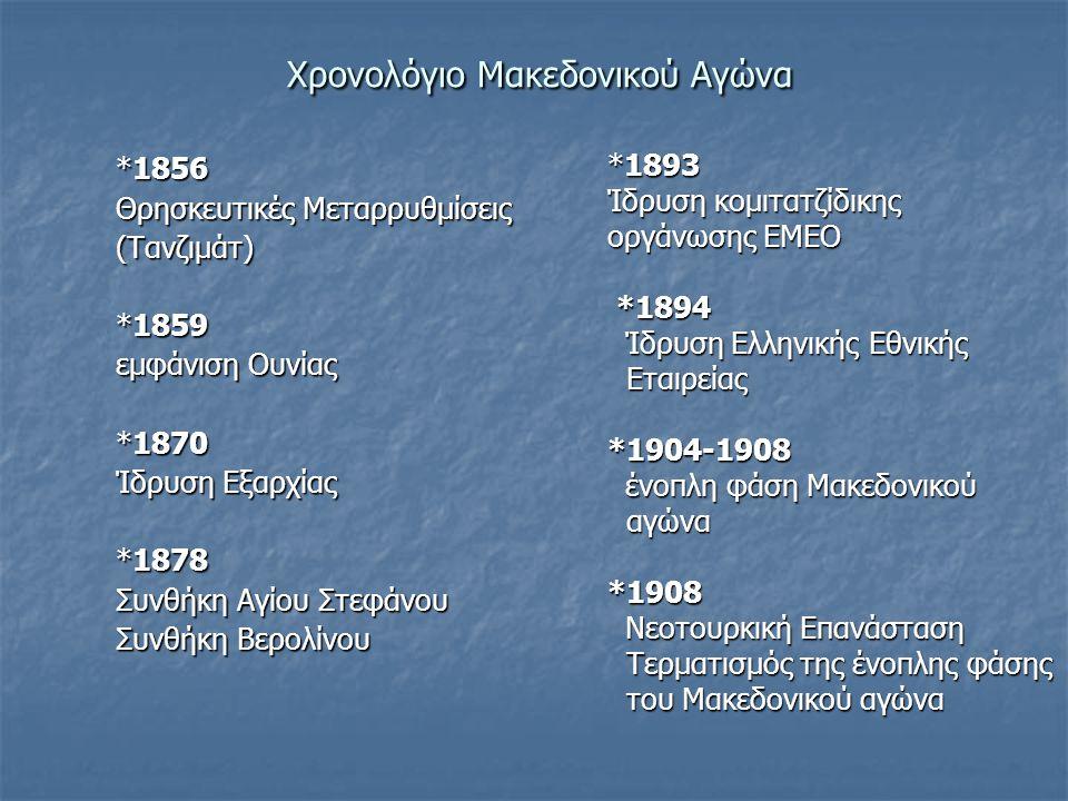 Xρονολόγιο Μακεδονικού Αγώνα