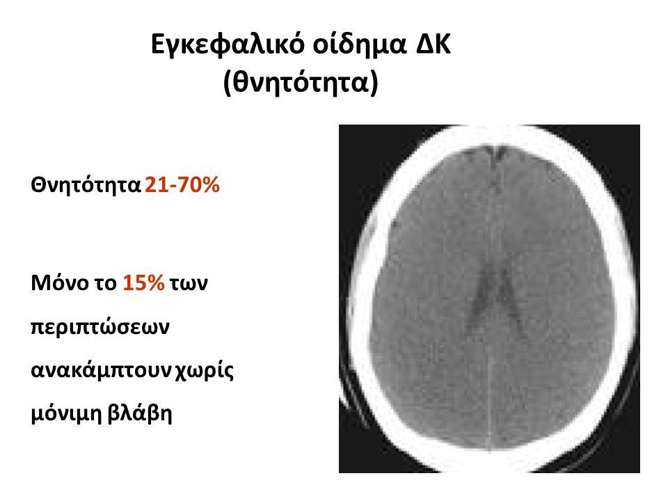 Εγκεφαλικό οίδημα ΔΚ (θνητότητα)