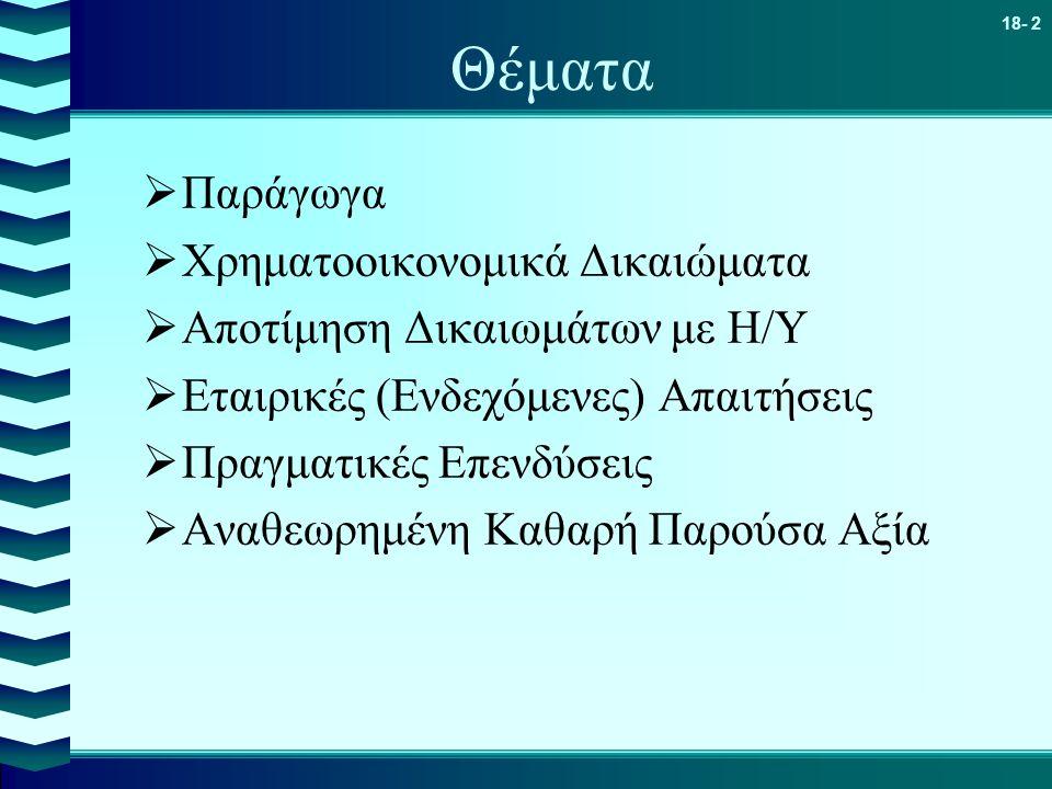 Θέματα Παράγωγα Χρηματοοικονομικά Δικαιώματα
