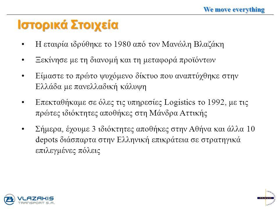 Ιστορικά Στοιχεία Η εταιρία ιδρύθηκε το 1980 από τον Μανώλη Βλαζάκη