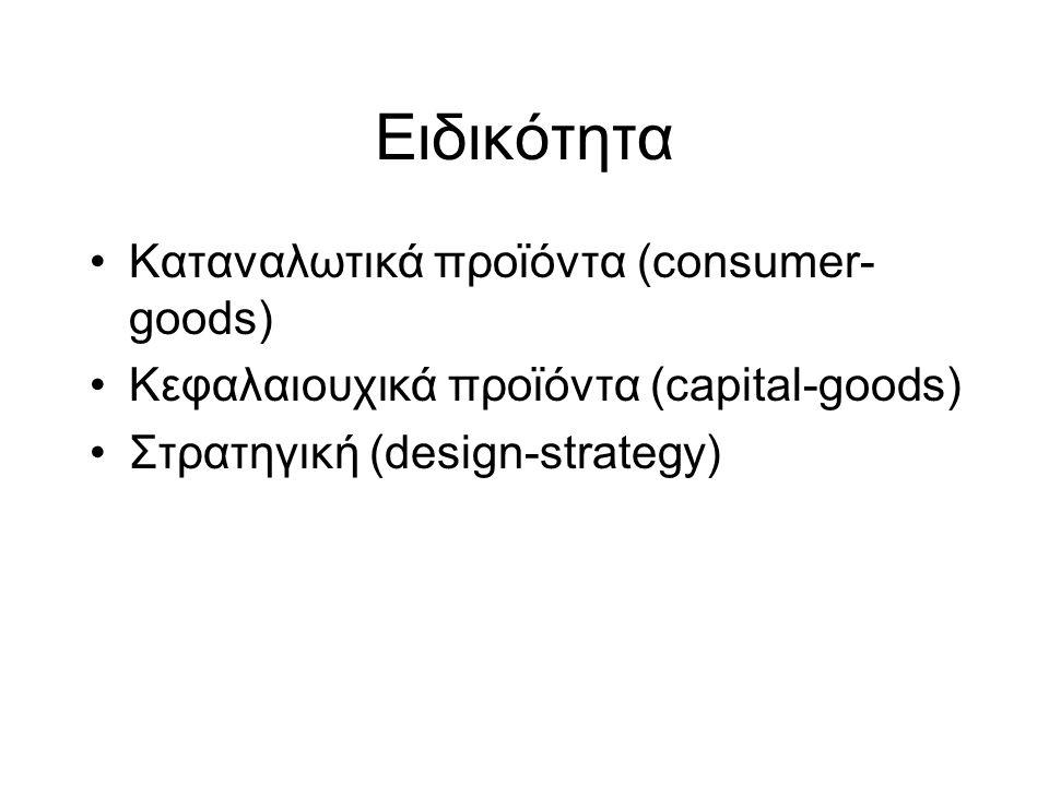 Eιδικότητα Καταναλωτικά προϊόντα (consumer-goods)