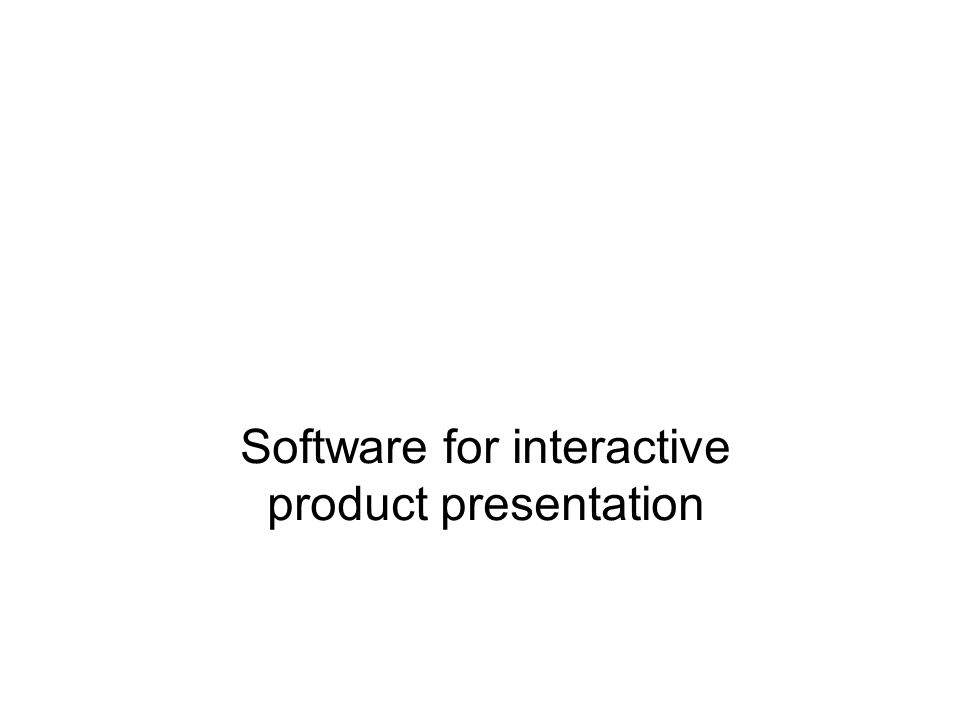 Software for interactive