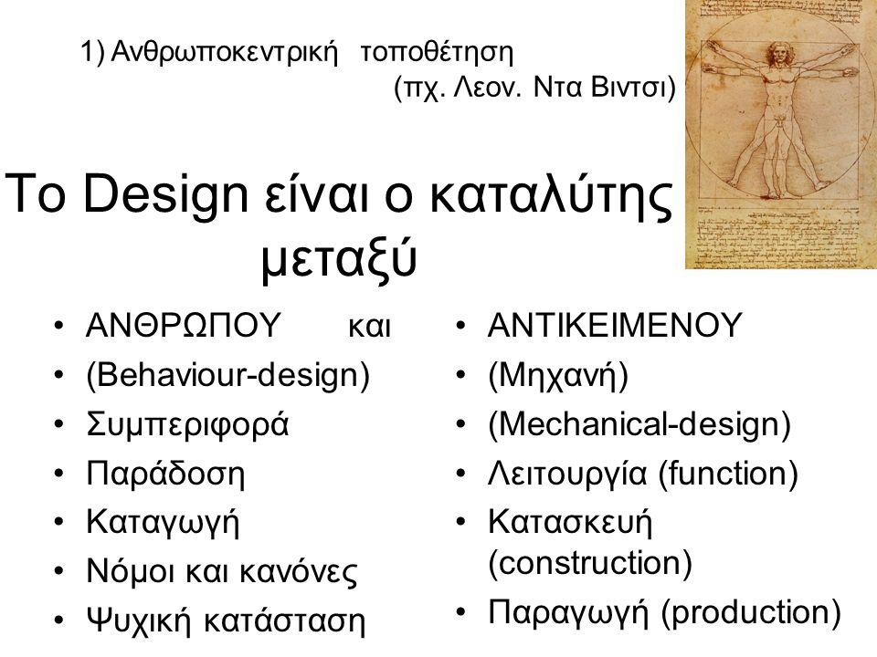 To Design είναι ο καταλύτης μεταξύ