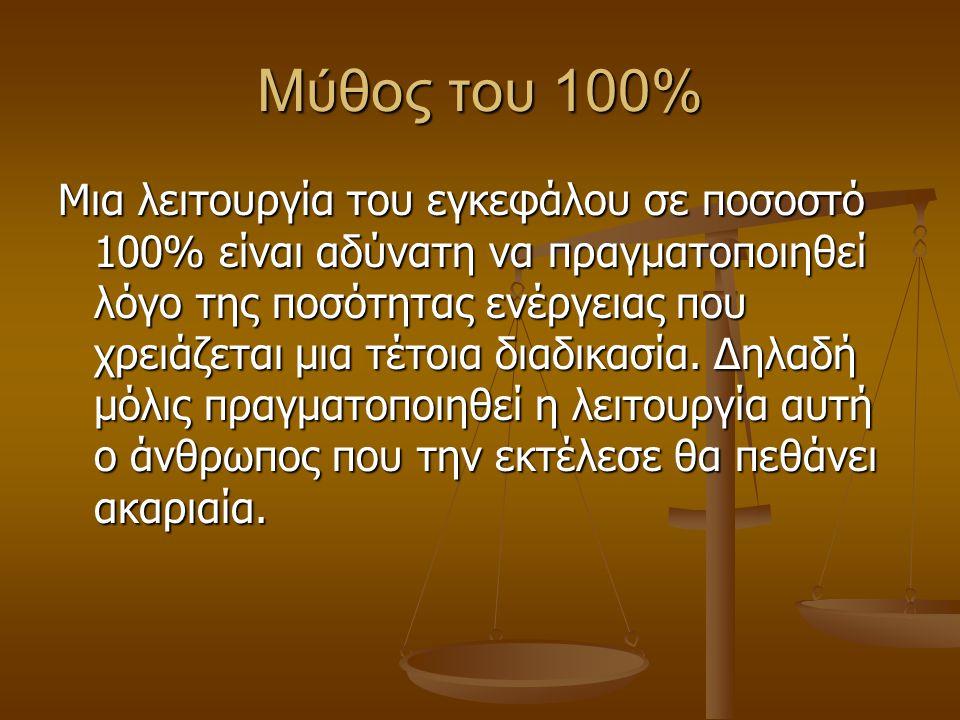 Μύθος του 100%